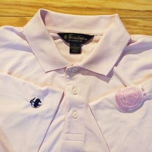PGA Golf Brooks Brothers Pink Polo